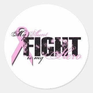 Aunt Hero - Fight Breast Cancer Classic Round Sticker