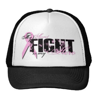 Aunt Hero - Fight Breast Cancer Mesh Hat