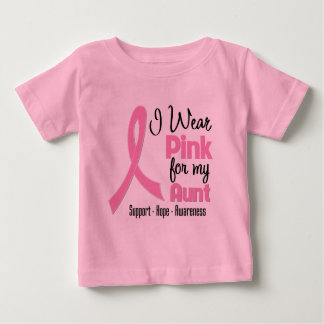 Aunt - I Wear Pink - Breast Cancer T Shirt