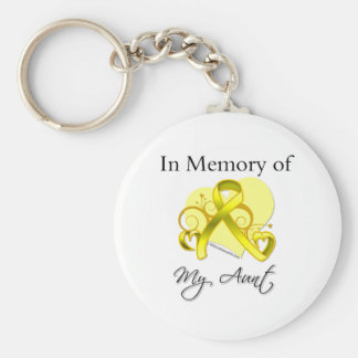 Aunt - In Memory of Military Tribute Keychain