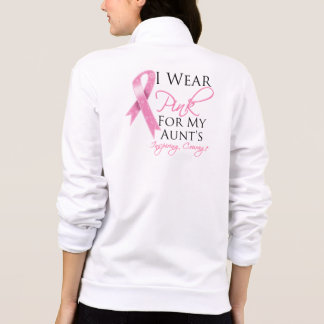 Aunt Inspiring Courage Breast Cancer Printed Jackets