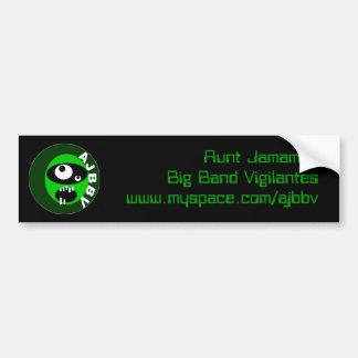 aunt jamamas big band vigilantes bumpersticker bumper sticker