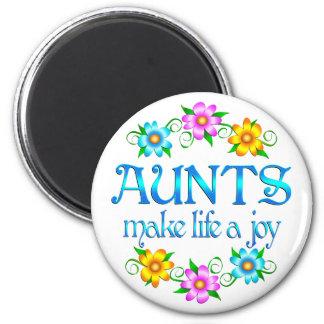 Aunt Joy 2 Inch Round Magnet