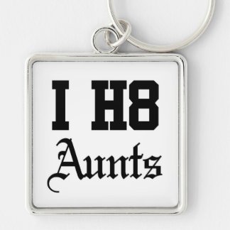 aunt Silver-Colored square keychain