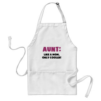 Aunt: Like a Mom, Only Cooler Adult Apron