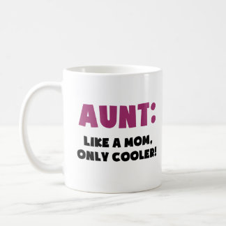 Aunt: Like a Mom, Only Cooler Coffee Mugs