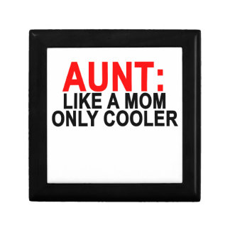 Aunt Like a Mom Only Cooler Women's T-Shirts.png Jewelry Box