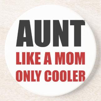 Aunt Like Mom Cooler Sandstone Coaster