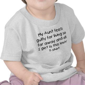 Aunt lives far away t shirts
