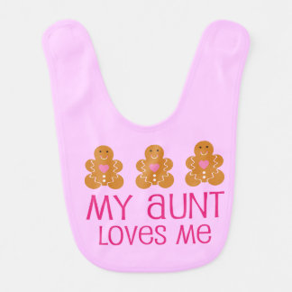 Aunt Loves Me Baby Girl Bib