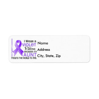Aunt Means World To Me 2 H Lymphoma Return Address Label