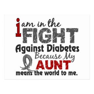 Aunt Means World To Me Diabetes Postcard