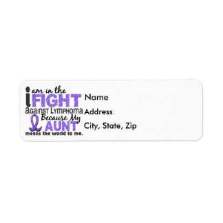 Aunt Means World To Me H Lymphoma Label