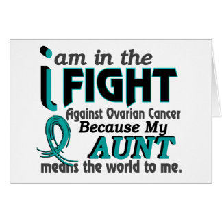 Aunt Means World To Me Ovarian Cancer Greeting Cards