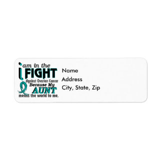 Aunt Means World To Me Ovarian Cancer Label