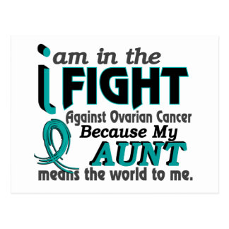 Aunt Means World To Me Ovarian Cancer Post Card