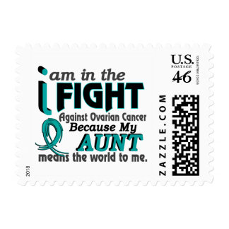 Aunt Means World To Me Ovarian Cancer Stamp