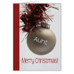 Aunt  merry christmas grey ornament greeting card