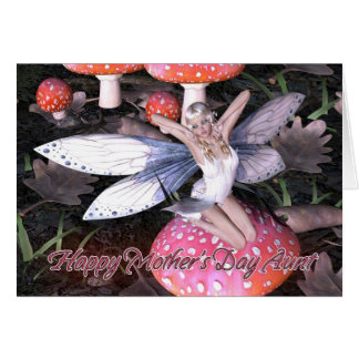 Aunt Mother's Day Card - Woodland Butterfly Fairy