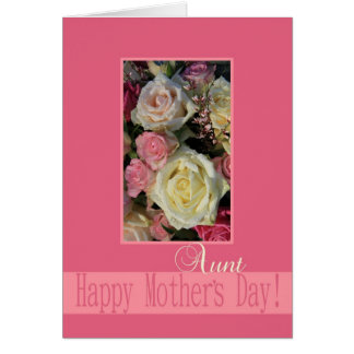 Aunt Mother's Day rose card