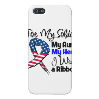 Aunt - My Soldier, My Hero Patriotic Ribbon iPhone 5/5S Covers