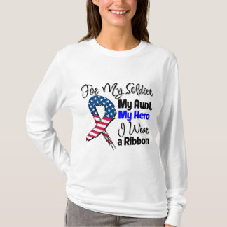 Aunt - My Soldier, My Hero Patriotic Ribbon T-Shirt
