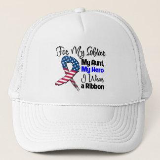 Aunt - My Soldier, My Hero Patriotic Ribbon Trucker Hat