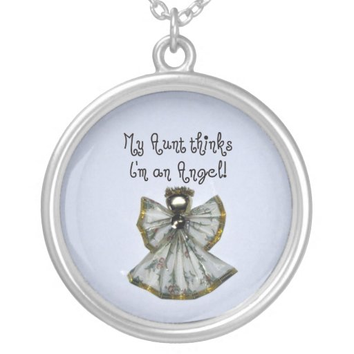 Aunt/Niece Round Pendant Necklace