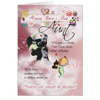 Aunt Nurse's Day cute little baby and cute nurse s Card