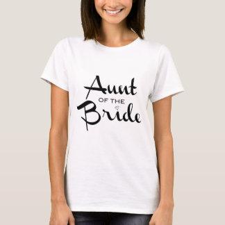 Aunt of Bride Black on White T-Shirt