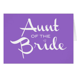 Aunt of Bride White on Purple Card