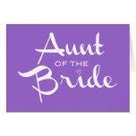 Aunt of Bride White on Purple Greeting Card