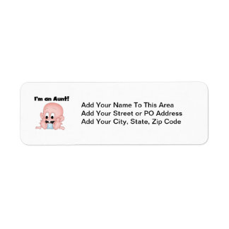 Aunt of New Nephew T-shirts and Gifts Return Address Label