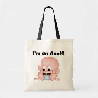 Aunt of New Nephew Tshirts and Gifts Budget Tote Bag