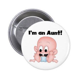 Aunt of New Nephew Tshirts and Gifts Pinback Button