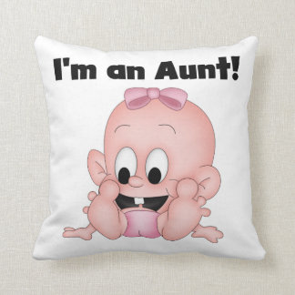 Aunt of New Niece T-shirts and Gifts Throw Pillow