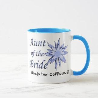 Aunt of the Bride Blue Mug