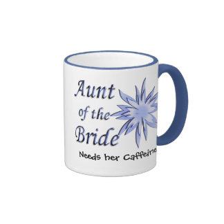 Aunt of the Bride Blue Ringer Mug