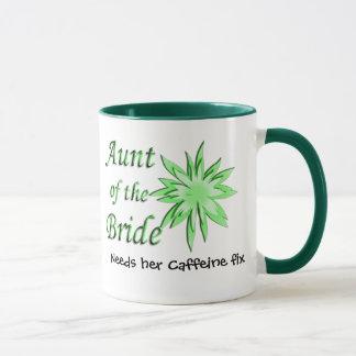 Aunt of the Bride Green Mug