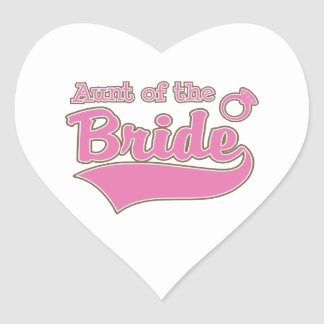Aunt of the Bride Heart Sticker
