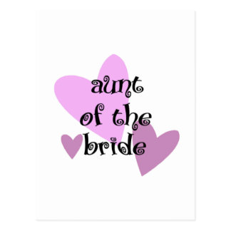 Aunt of the Bride Postcard