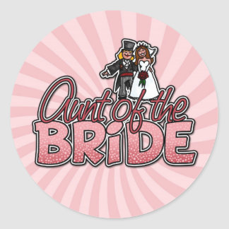 aunt of the bride stickers
