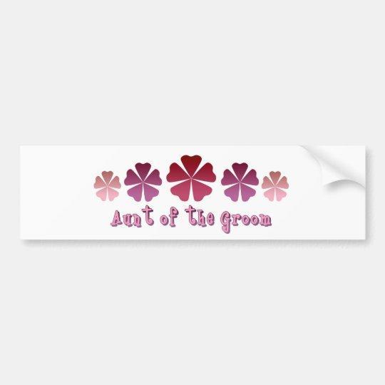 Aunt of the Groom Bumper Sticker