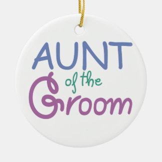 Aunt of the Groom Ceramic Ornament