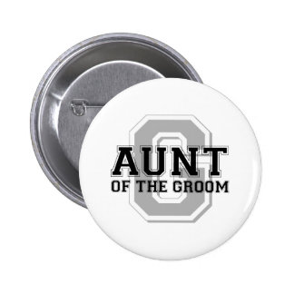 Aunt of the Groom Cheer Button