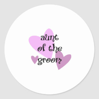 Aunt of the Groom Classic Round Sticker