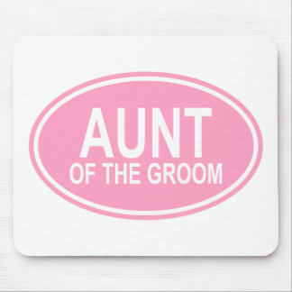 Aunt of the Groom Wedding Oval Pink Mouse Pad