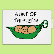 Aunt of Triplets Pod Card
