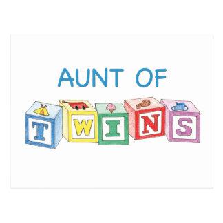 Aunt of Twins Blocks Postcard