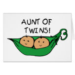 Aunt of Twins Pod Greeting Card